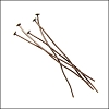 Head Pin 2 inch 20 gauge ANT.COPPER - per ounce