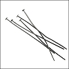 Head Pin 2 inch 20 gauge GUNMETAL - per ounce