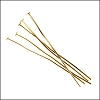 Head Pin 2 inch 20 gauge GOLD - per ounce
