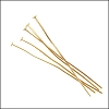 Head Pin 2 inch 20 gauge MATTE GOLD - per ounce