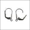 Leverback Earrings MATTE GUNMETAL - per 72 pieces