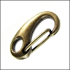 25mm CLIP lobster clasp ANT. BRASS - per 10 pieces
