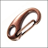 25mm CLIP lobster clasp ANT. COPPER - per 10 pieces
