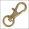 32mm SWIVEL lobster clasp MATTE GOLD - per 10 pieces