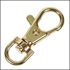 38mm SWIVEL lobster clasp GOLD - per 10 pieces