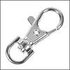 38mm SWIVEL lobster clasp SILVER PLATE - per 10 pieces