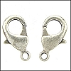15mm x 9mm Lobster Clasp ANTIQUE SILVER - per 100 pieces