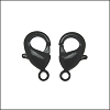 Powder Coated Lobster Clasp BLACK - per 25 pieces