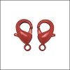Powder Coated Lobster Clasp RED - per 25 pieces