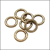 CLOSED jump ring 8mm per ounce ANTIQUE BRASS