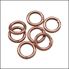 CLOSED jump ring 8mm per ounce ANTIQUE COPPER