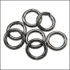 CLOSED jump ring 8mm per ounce GUNMETAL