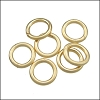 CLOSED jump ring 8mm per ounce MATTE GOLD