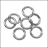 CLOSED jump ring 8mm per ounce RHODIUM