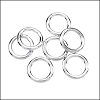 CLOSED jump ring 8mm per ounce SILVER PLATE