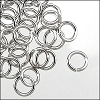 jump ring 4mm per ounce RHODIUM