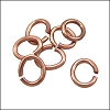 OVAL jump ring per ounce ANTIQUE COPPER