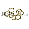 SPLIT ring 5mm per ounce SHINY GOLD