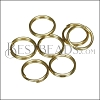 SPLIT ring 7mm per ounce SHINY GOLD