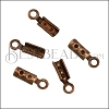 Crimp with Loop ANT.COPPER - 144 pcs