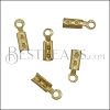 Crimp with Loop MATTE GOLD - 144 pcs