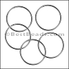 Round Wire Ring from CH-52 ANT SILVER - 10 pcs