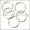 Round Wire Ring from CH-52 SHINY GOLD - 10 pcs