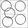 Round Wire Ring from CH-52 MATTE GUNMETAL - 10 pcs