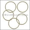 Round Wire Ring from CH-52 MATTE GOLD - 10 pcs