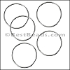 Round Wire Ring from CH-52 SILVER PLATED - 10 pcs