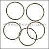 Round Wire Ring from CH-52 ANT BRASS - 10 pcs