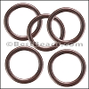 Flat Wire Ring from CH-52 ANT COPPER - 10 pcs