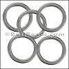 Flat Wire Ring from CH-52 ANT SILVER - 10 pcs