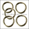 Flat Wire Ring from CH-52 SHINY GOLD - 10 pcs