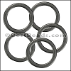 Flat Wire Ring from CH-52 MATTE GUNMETAL - 10 pcs