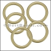 Flat Wire Ring from CH-52 MATTE GOLD - 10 pcs