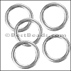 Flat Wire Ring from CH-52 SILVER PLATED - 10 pcs