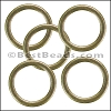 Flat Wire Ring from CH-52 ANT BRASS - 10 pcs