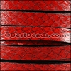 10mm flat SALMON leather RED - per 1 meter