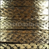 10mm flat SALMON leather GOLD - per 1 meter