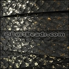 10mm flat SALMON leather BLACK/GOLD - per 1 meter