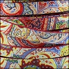 10mm flat EURO PRINTED leather BRIGHT PAISLEY - per 2 meters