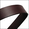 30mm STRIP flat leather CHOCOLATE- approx. 3 feet