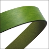 30mm STRIP flat leather OLIVE GREEN - approx. 3 feet