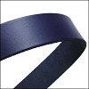 30mm STRIP flat leather NAVY - approx. 3 feet
