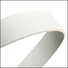 30mm STRIP flat leather WHITE - approx. 3 feet