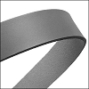 30mm STRIP flat leather GREY - approx. 3 feet