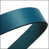 20mm flat leather TURQUOISE - approx. 3 feet