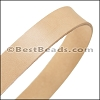 30mm STRIP flat leather NATURAL - approx. 3 feet