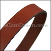 30mm STRIP flat leather MAHOGANY - approx. 3 feet